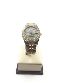 2 Tone Datejust 31mm White Mop Diamond Dial/Bezel 68273 Watch by Rolex