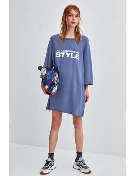 Sweatshirt Dress With Slogan  Dressesstarting From 50 Percents Off Woman Sale by Zara