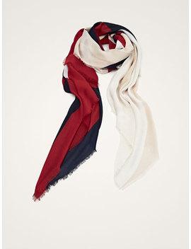 Fular W Motywy BloczkÓw by Massimo Dutti