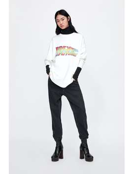 Back To The Future® Printed Sweatshirt  Knitwearwoman Sale by Zara