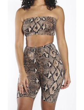Snake Skin Short Set Free Shipping by Frankie.