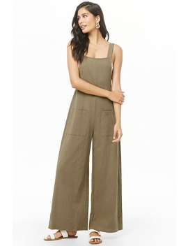 Crinkled Palazzo Jumpsuit by Forever 21
