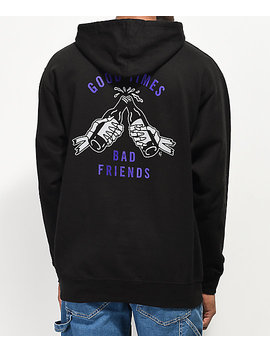 Lurking Class By Sketchy Tank Good Times Black &Amp; Purple Hoodie by Lurking Class By Sketchy Tank