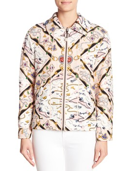 Printed Reversible Knit Sorority Jacket by Opening Ceremony