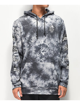 Lurking Class By Sketchy Tank Lurk Black &Amp; Grey Tie Dye Hoodie by Lurking Class By Sketchy Tank