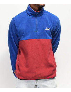 Ripndip Catanza Half Zip Blue &Amp; Red Sweatshirt by Ripndip