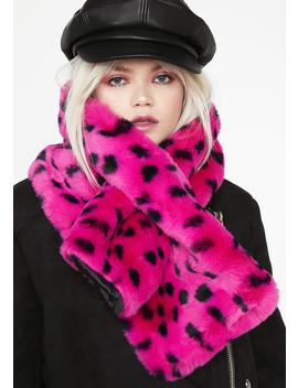 Furry Leopard Scarf by Lazy Oaf