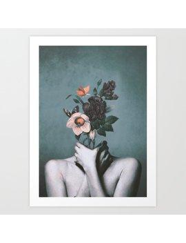Black Butterfly Art Print by