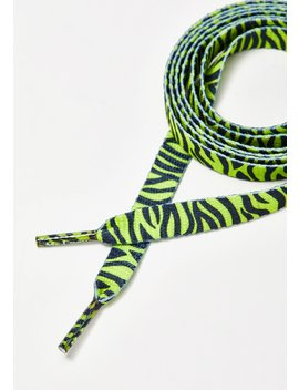Neon Lime Yellow Zebra Laces by Mr Lacy