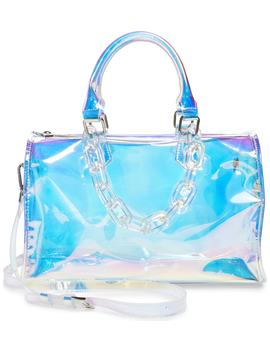 Translucent Iridescent Barrel Bag by Like Dreams