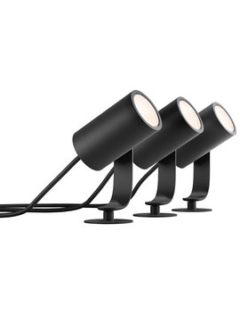 Philips Hue Lily Smart Outdoor Spot Light Base Kit   3 Pack   Multi Colour by Philips Hue