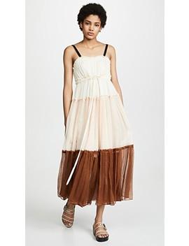Celia Tiered Crinkle Silk Maxi Dress by Lee Mathews