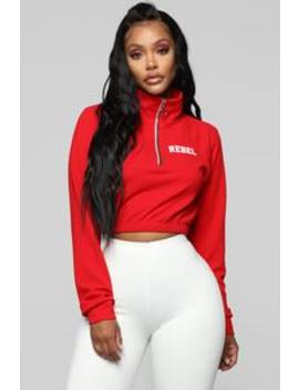 Rebel Without A Cause Top   Red by Fashion Nova