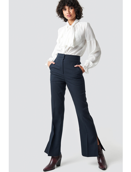 High Waist Slit Suit Pants by Na Kd Classic