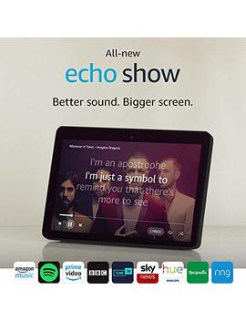 All New Echo Show (2nd Gen), Black + Philips Hue White Bulb B22 by Amazon