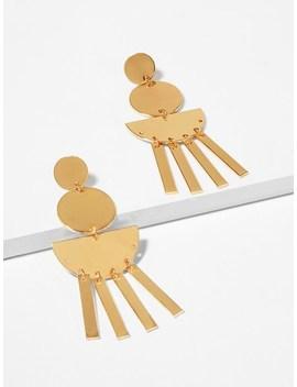 Round & Bar Drop Earrings by Sheinside