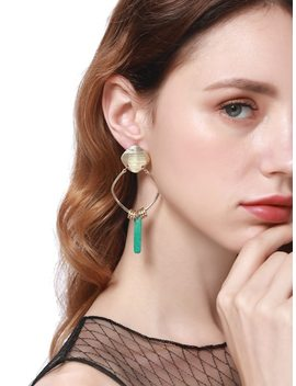 Drop Earrings With Turquoise by Sheinside
