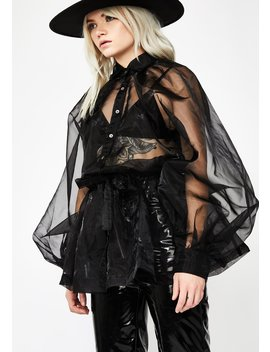 Art Betch Organza Top by Hot Delicious