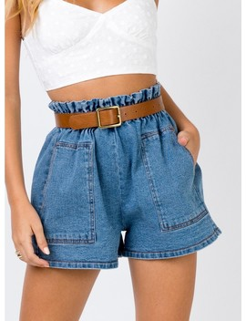 Orchid Bay Denim Shorts by Princess Polly