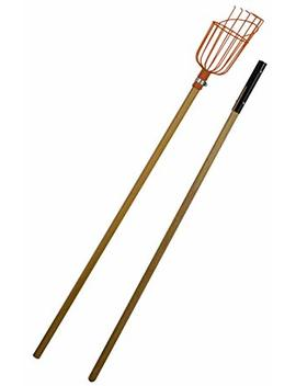 Flexrake Lrb189 Fruit Picker With 8 Foot 2 Piece Wood Handle by Flexrake