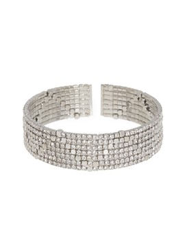 Pave Cuff Crystal Bracelet by Cristabelle