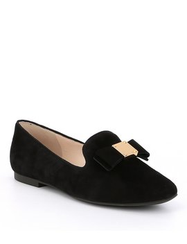 Tali Bow Detail Suede Loafers by Cole Haan