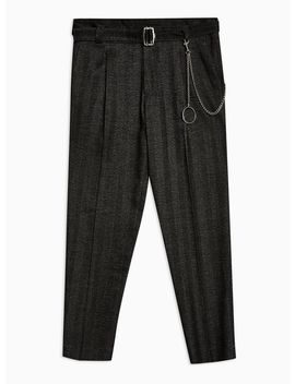Charcoal Tapered Trousers by Topman