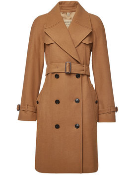 Cranston Coat With Wool And Cashmere by Burberry