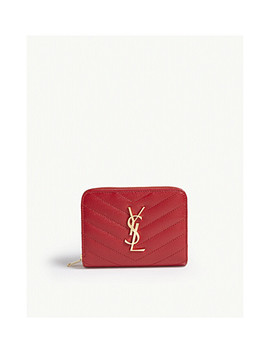 Moniker Quilted Leather Purse by Saint Laurent