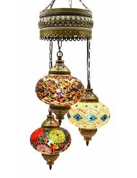 Mosaic Chandelier,Mosaic Lamp,Turkish Lamp,Moroccan Lantern by Lmd Lamp