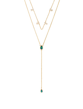 Double Tear Drop Layered Necklace by Elizabeth Stone