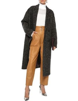 Double Breasted Herringbone Wool Coat by Goen.J