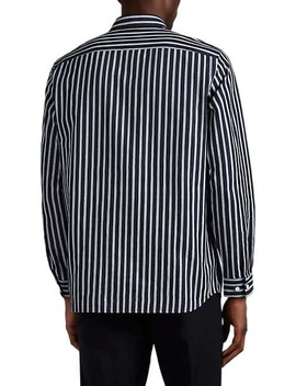 Menlo Striped Cotton Shirt by Theory