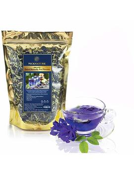 Premium Thai Herb Organic Dried Butterfly Pea Flowers Tea, (3.55 Oz.)Use To Cook, For Thai Food, Beverage, Cake Or Cookie by Picknature