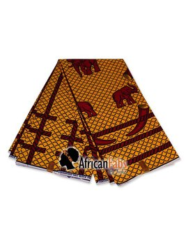 African Wax Print Fabric Elephant   Ankara Cotton Fabrics   Java Wax Hollandais by Etsy