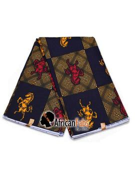 African Wax Print Fabric Jumping Horse   Ankara Cotton Fabrics   Java Wax Hollandais *Superior Quality* by Etsy