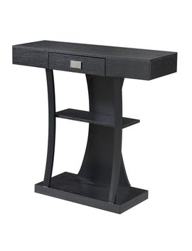 Newport Harri Console Table, Black   36 X 12 X 34 In. by Convenience Concepts