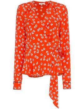 Florale Wickelbluse by Ganni