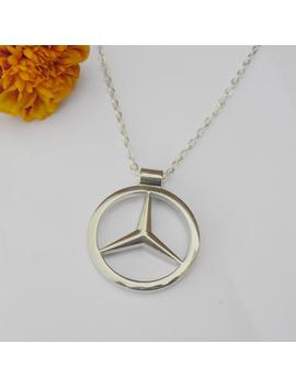 Mercedes Benz Merc Silver Necklace Pendant Or Mirror Dangler by Etsy