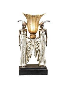 Design Toscano Art Deco Peacock Maidens Illuminated Statue by Design Toscano
