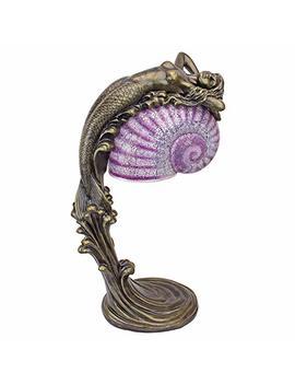 Design Toscano Art Deco Illuminated Sculpture Siren Of The Sea Mermaid Lamp by Design Toscano