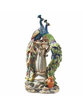 Design Toscano Peacocks In Paradise Home Decor Statue, 19 Inch, Full Color by Design Toscano
