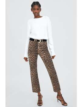 Leopard Print Jeans  View All Trousers Trf Sale by Zara
