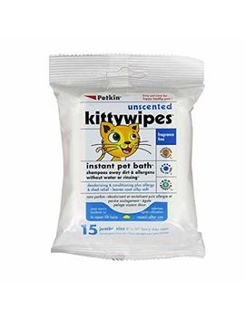 Petkin Unscented Kittywipes 15 Count by Petkin