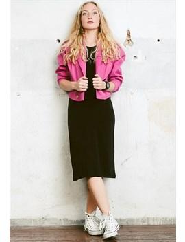 Vintage 80s Pink Crop Blazer Jacket by Northern Girl