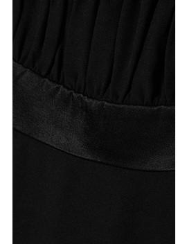 Lisa Satin Trimmed Crepe Midi Dress by Staud