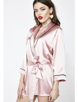 Spoiled Sweet Satin Robe by Roma