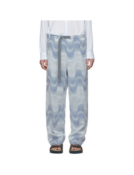 Blue Verner Panton Edition Piene Tris Trousers by Dries Van Noten