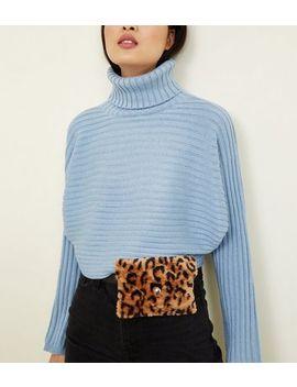 Brown Leopard Print Faux Fur Purse Belt by New Look