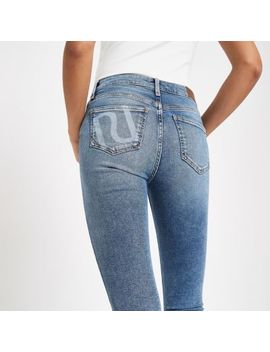 Light Blue Amelie Ri Skinny Jeans by River Island